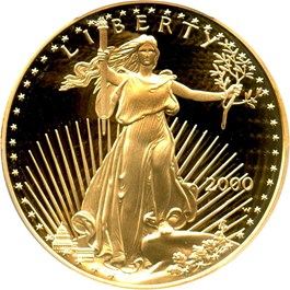 Image of 2000-W Gold Eagle $50 PCGS Proof 70 DCAM