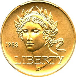 Image of 1988-W Olympic $5 PCGS MS69