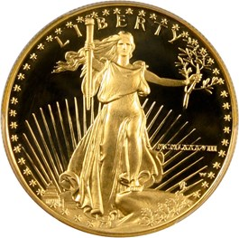 Image of 1988-W Gold Eagle $50 PCGS Proof 69 DCAM