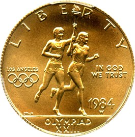 Image of 1984-W Olympic $10 PCGS MS69 - No Reserve!