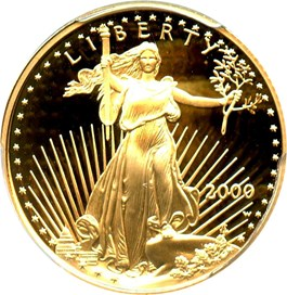 Image of 2000-W Gold Eagle $10 PCGS Proof 69 DCAM