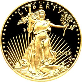 Image of 2013-W Gold Eagle $25 PCGS Proof 70 DCAM