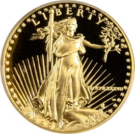 Image of 1987-W Gold Eagle $50 PCGS Proof 69 DCAM