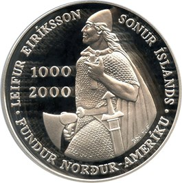 Image of 2000 Iceland Leif Ericson 1000 K PCGS Proof 69 DCAM