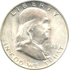 Image of 1948 50c PCGS MS65 FBL
