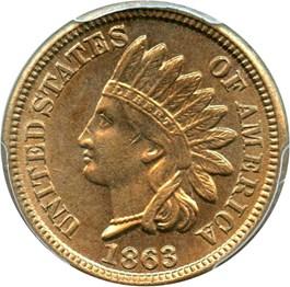 Image of 1863 1c PCGS MS63