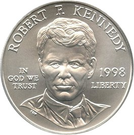 Image of 1998-S Robert F. Kennedy $1 PCGS MS69