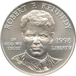 Image of 1998-S Robert F. Kennedy $1 PCGS MS69