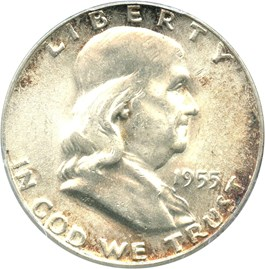 Image of 1955 50c PCGS MS65