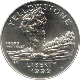 Image of 1999-P Yellowstone $1 PCGS MS69
