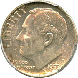 Image of 1952-S 10c PCGS MS66