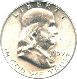 Image of 1959 50c PCGS MS64 FBL
