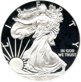Image of 2014-W Silver Eagle $1 PCGS Proof 69 DCAM