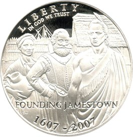 Image of 2007-P Jamestown $1 PCGS Proof 69 DCAM