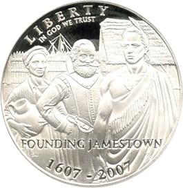 Image of 2007-P Jamestown $1 PCGS Proof 69 DCAM