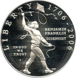 Image of 2006-P Ben Franklin-Scientist $1 PCGS Proof 69 DCAM