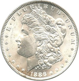 Image of 1886 $1 PCGS MS64 - No Reserve!