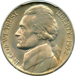 Image of 1952 5c PCGS MS66