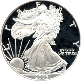 Image of 2005-W Silver Eagle $1 PCGS Proof 69 DCAM - No Reserve!