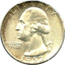 Image of 1952 25c PCGS MS66