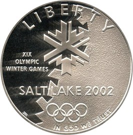 Image of 2002-P Salt Lake City Olympics $1 PCGS Proof 69 DCAM