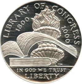 Image of 2000-P Library of Congress $1 PCGS Proof 69 DCAM
