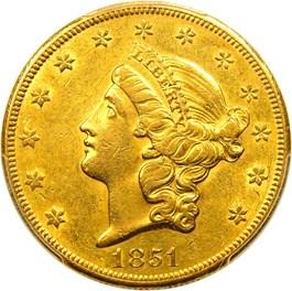 Image of 1851-O $20 PCGS/CAC AU55