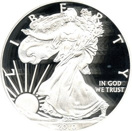 Image of 2010-W Silver Eagle $1 PCGS Proof 69 DCAM