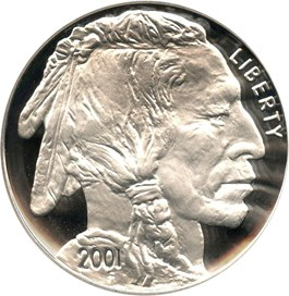 Image of 2001-P Buffalo $1 PCGS Proof 69 DCAM