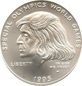 Image of 1995-W Special Olympic $1 PCGS MS69