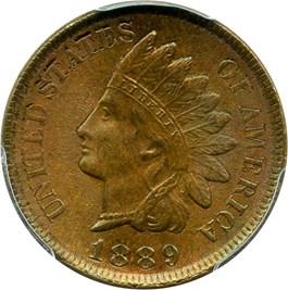 Image of 1889 1c PCGS/CAC MS65 BN