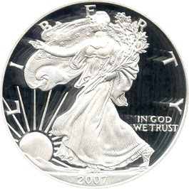 Image of 2007-W Silver Eagle $1 PCGS Proof 70 DCAM