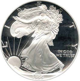 Image of 1995-P Silver Eagle $1 PCGS Proof 70 DCAM