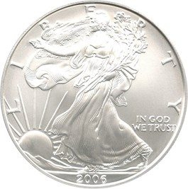 Image of 2006-W Silver Eagle $1 PCGS MS70