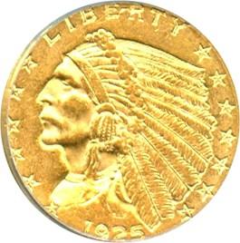 Image of 1925-D $2 1/2 PCGS AU58