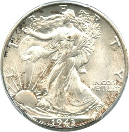 Image of 1943-S 50c PCGS/CAC MS65