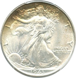 Image of 1943 50c PCGS/CAC MS66+