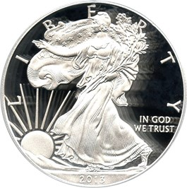 Image of 2013-W Silver Eagle $1 PCGS Proof 70 DCAM