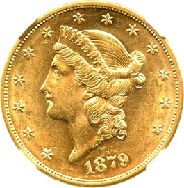 Image of 1879-S $20 NGC AU58