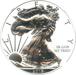 Image of 2013-W Silver Eagle $1 NGC Proof 69 (Reverse Proof, Early Releases)
