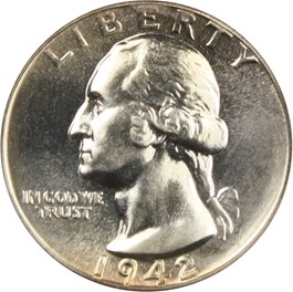 Image of 1942 25c PCGS/CAC Proof 66