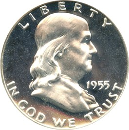 Image of 1955 50c NGC/CAC Proof 67 CAM