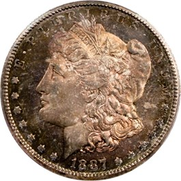 Image of 1887-S $1 PCGS/CAC MS65