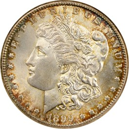 Image of 1899-O $1 NGC/CAC MS65