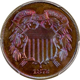 Image of 1872 2c PCGS Proof 66 RB
