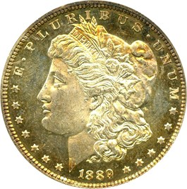 Image of 1889 $1 NGC/CAC MS64 DMPL