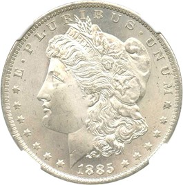 Image of 1885-O $1 NGC/CAC MS66