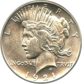 Image of 1921 Peace $1 PCGS/CAC MS64 (OGH)