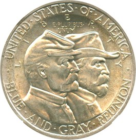 Image of 1936 Gettysburg 50c NGC/CAC MS64