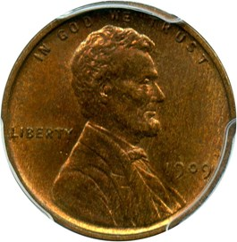 Image of 1909 Lincoln 1c PCGS MS64 RB